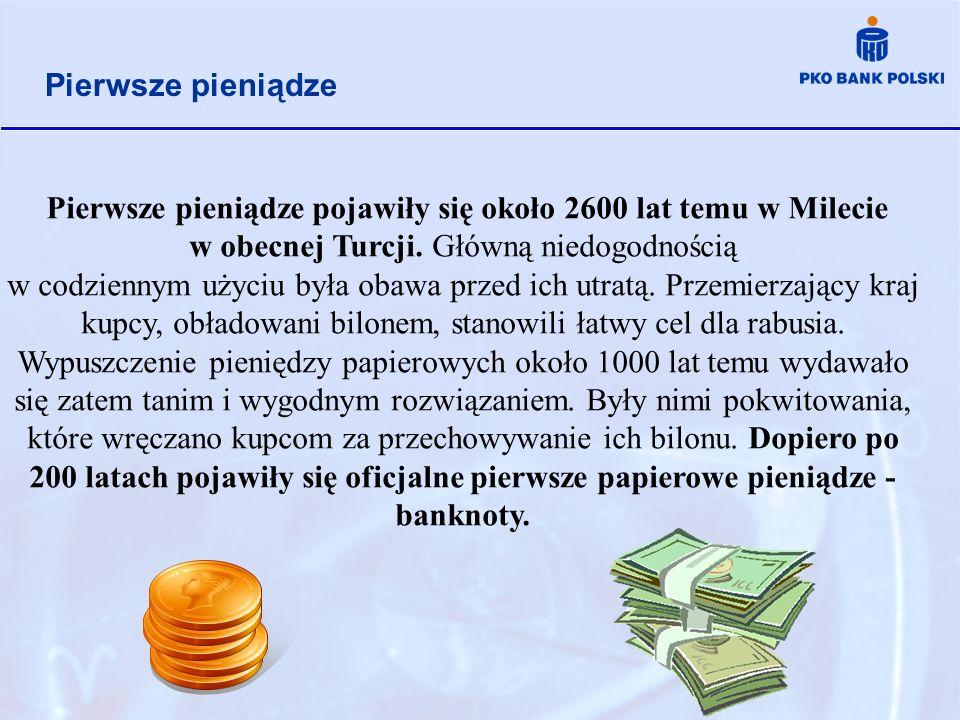 Pierwsze pieniądze