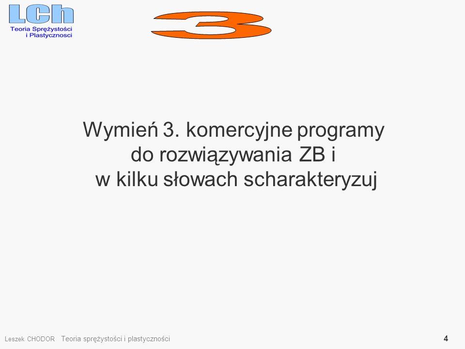 3 Wymień 3. komercyjne programy do rozwiązywania ZB i