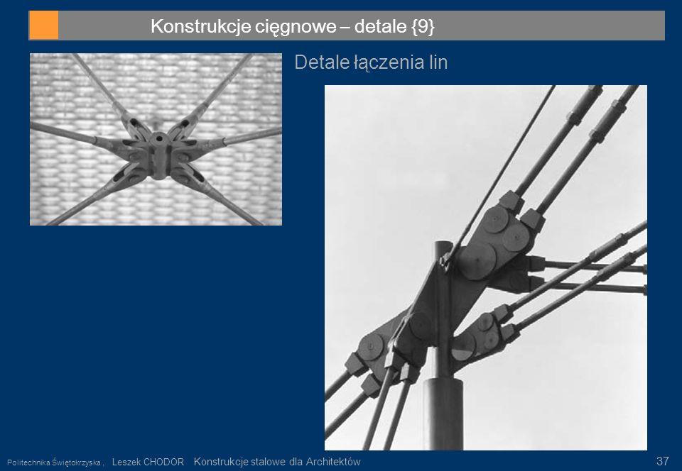 Konstrukcje cięgnowe – detale {9}
