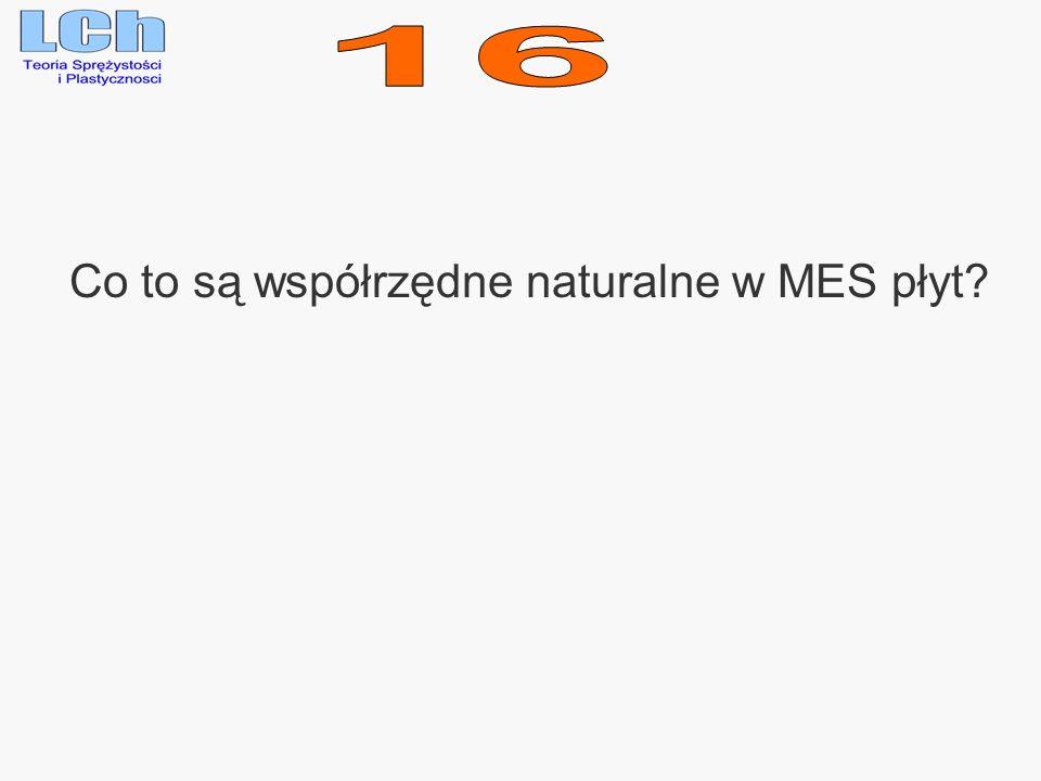 Co to są współrzędne naturalne w MES płyt