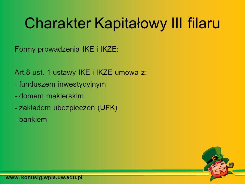 Charakter Kapitałowy III filaru