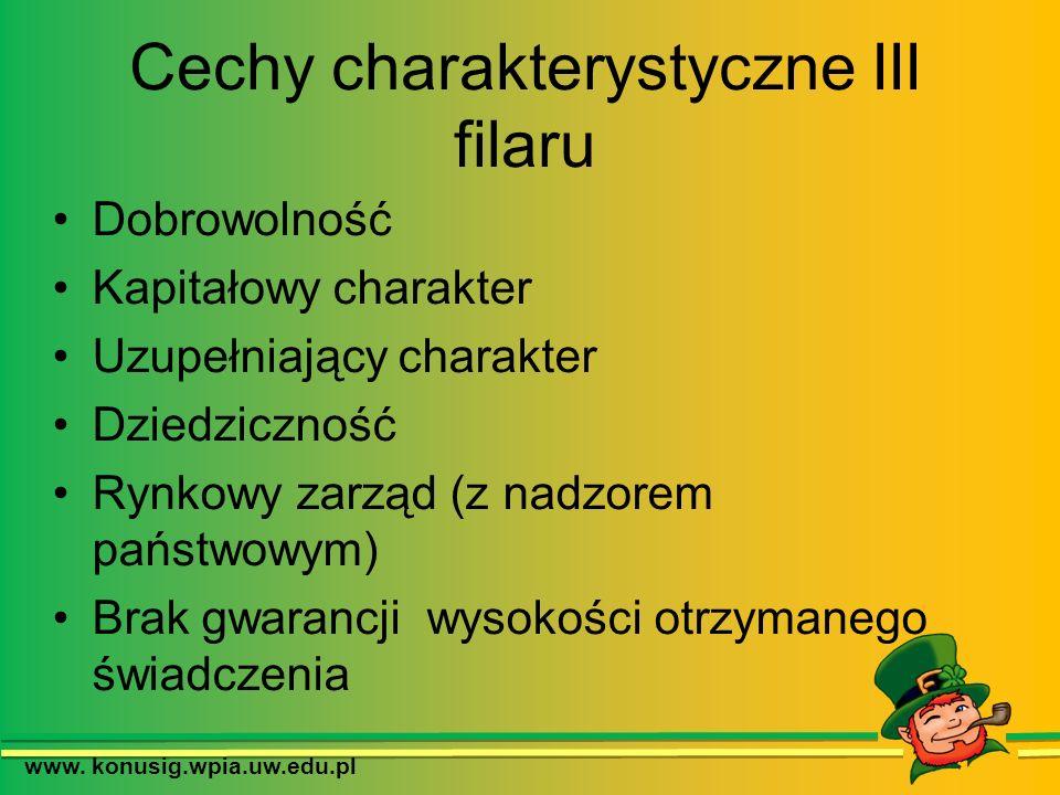 Cechy charakterystyczne III filaru