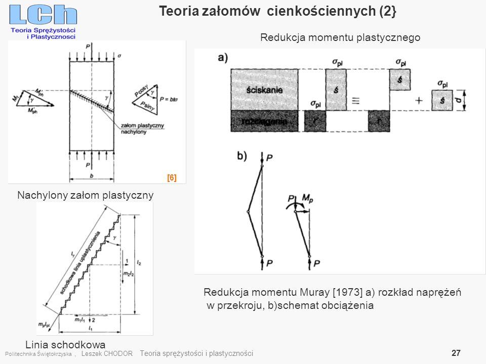 Teoria załomów cienkościennych (2}