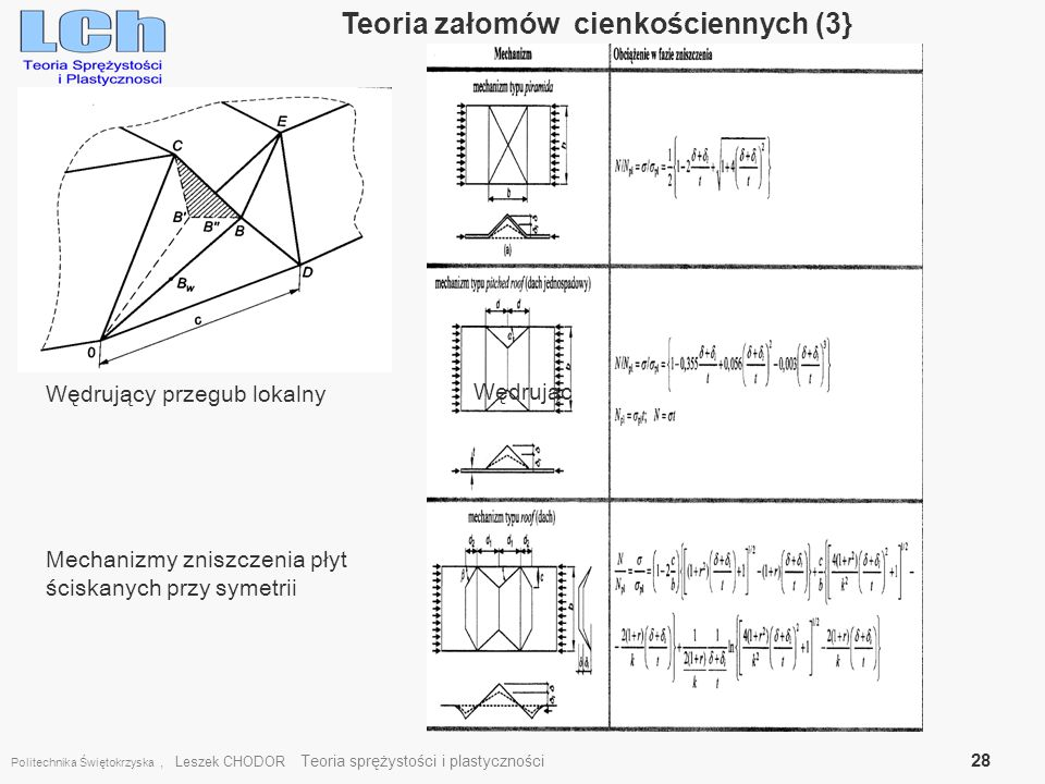 Teoria załomów cienkościennych (3}