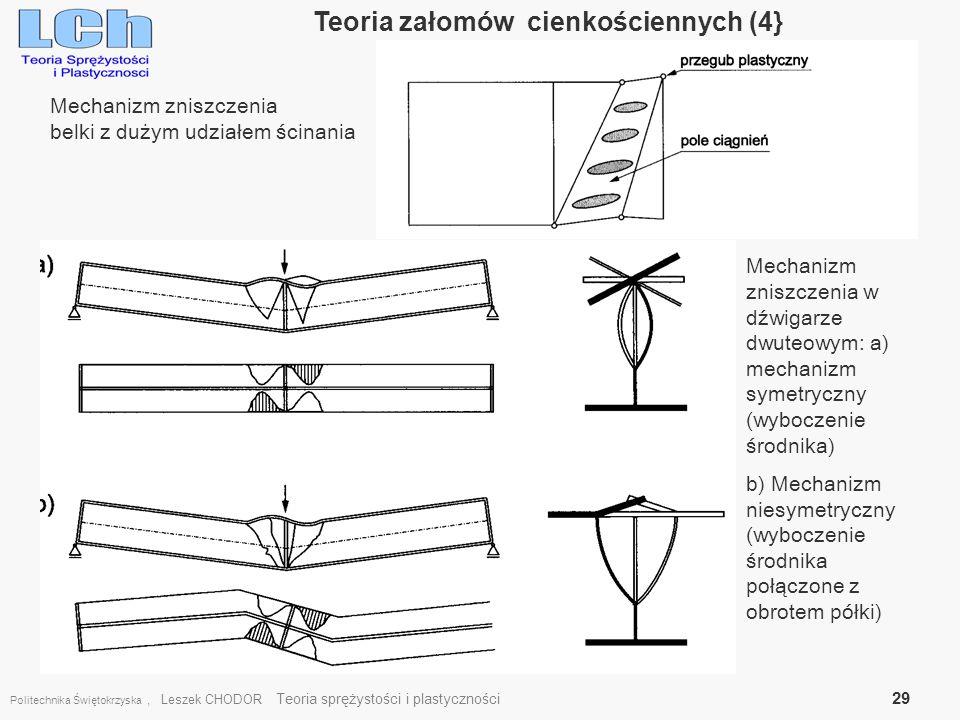 Teoria załomów cienkościennych (4}
