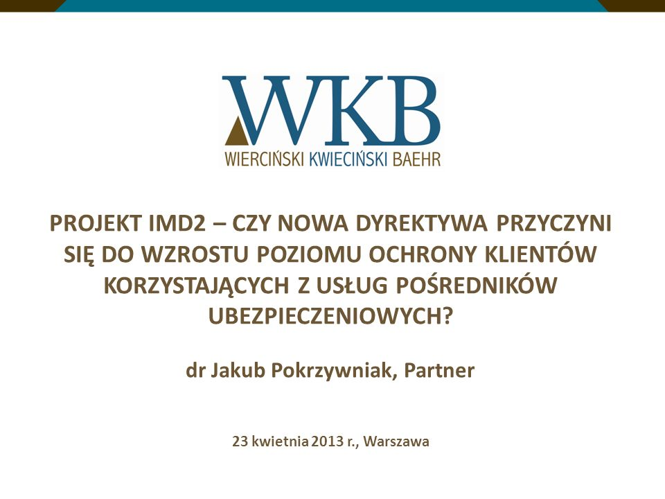 dr Jakub Pokrzywniak, Partner