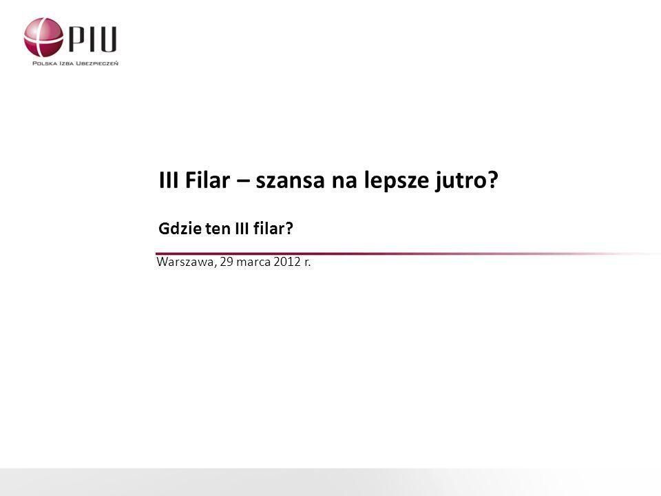 III Filar – szansa na lepsze jutro