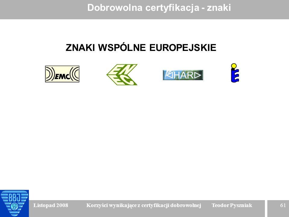ZNAKI WSPÓLNE EUROPEJSKIE
