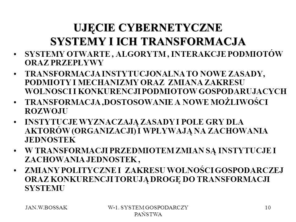 UJĘCIE CYBERNETYCZNE SYSTEMY I ICH TRANSFORMACJA