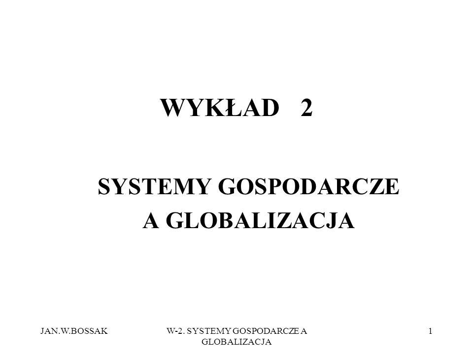 SYSTEMY GOSPODARCZE A GLOBALIZACJA