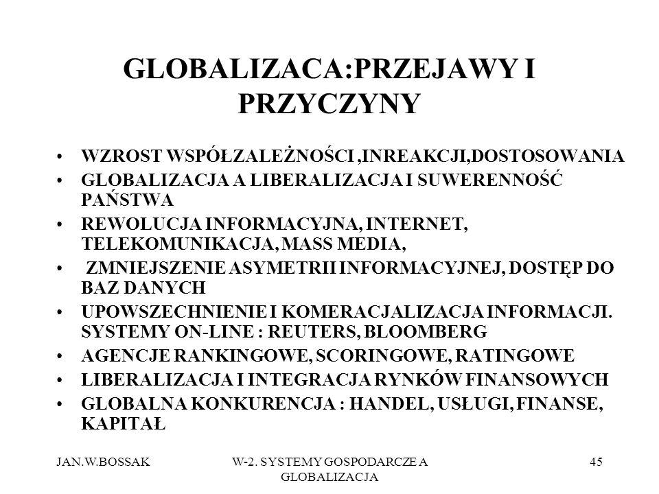 GLOBALIZACA:PRZEJAWY I PRZYCZYNY