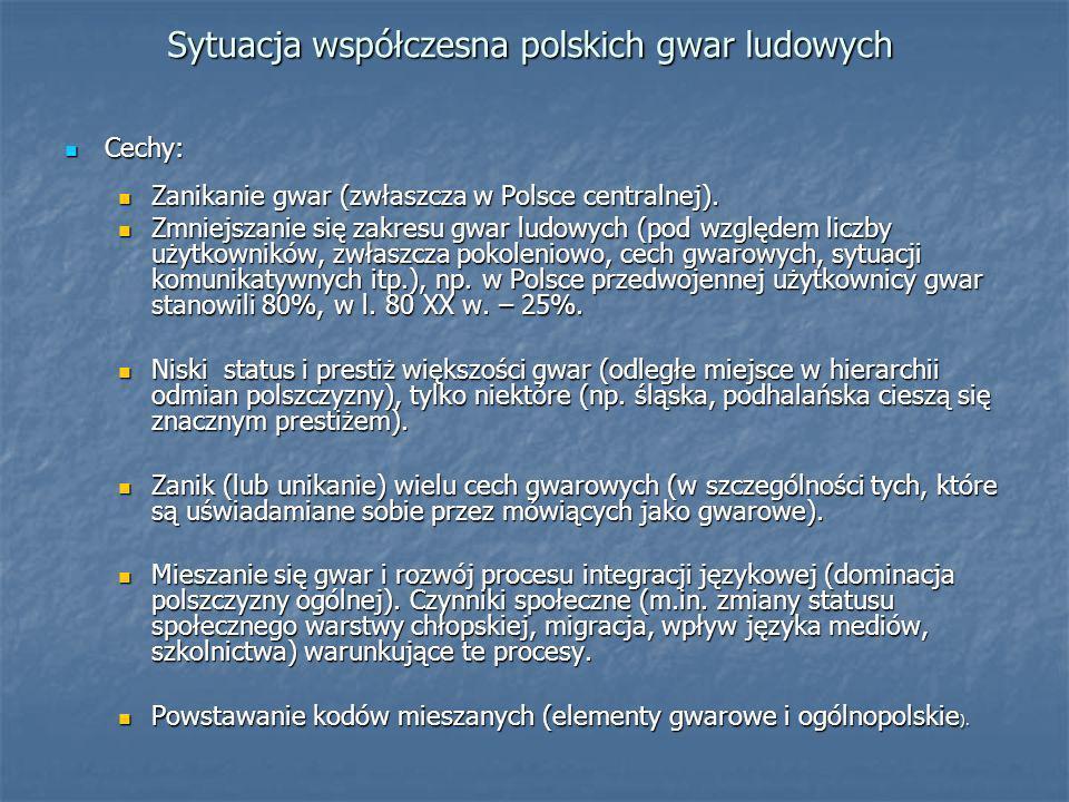Sytuacja współczesna polskich gwar ludowych
