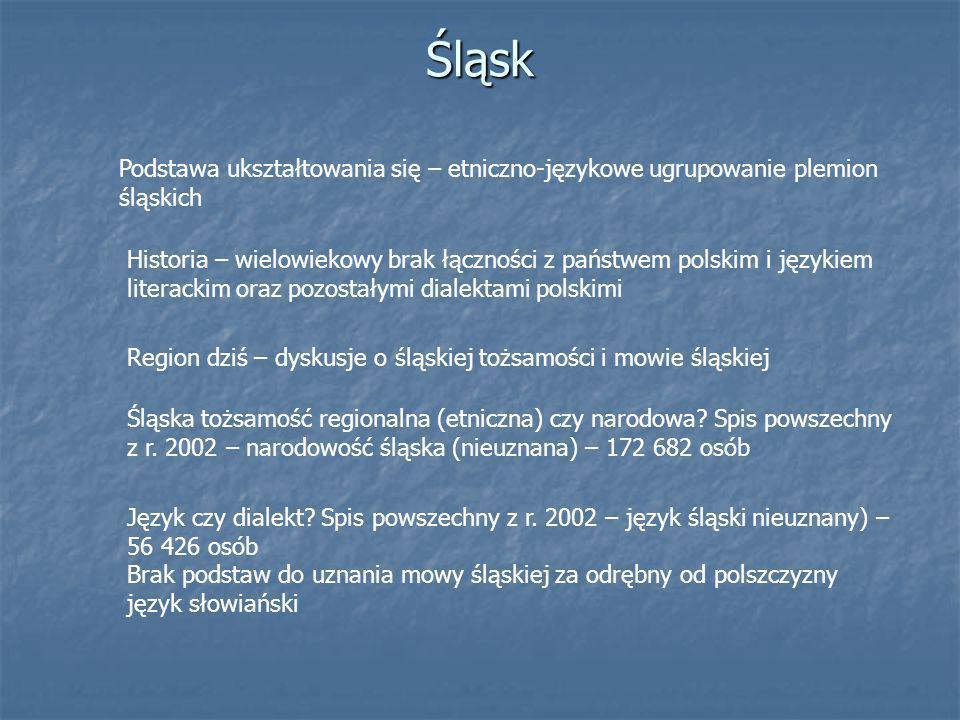Śląsk Podstawa ukształtowania się – etniczno-językowe ugrupowanie plemion śląskich.