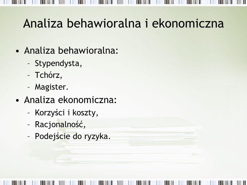 Analiza behawioralna i ekonomiczna