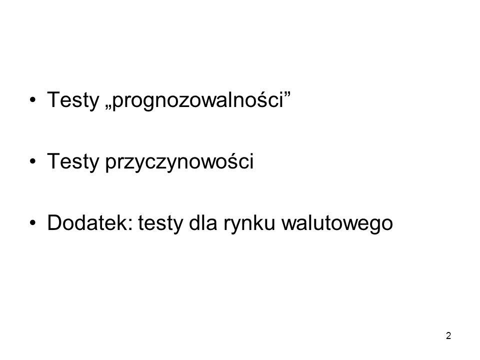 """Testy """"prognozowalności"""