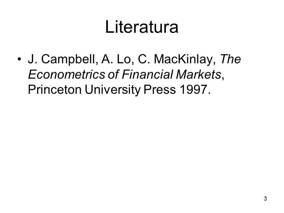 Literatura J. Campbell, A. Lo, C.