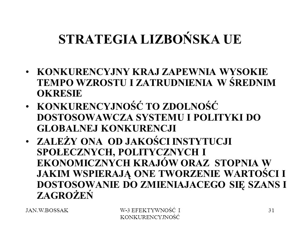 STRATEGIA LIZBOŃSKA UE