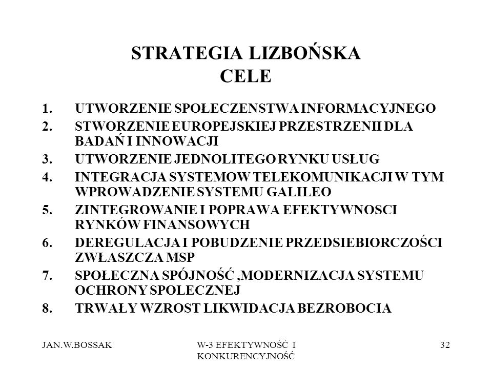 STRATEGIA LIZBOŃSKA CELE