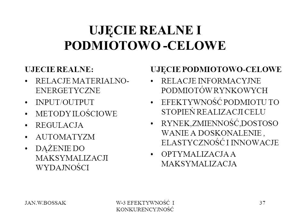 UJĘCIE REALNE I PODMIOTOWO -CELOWE