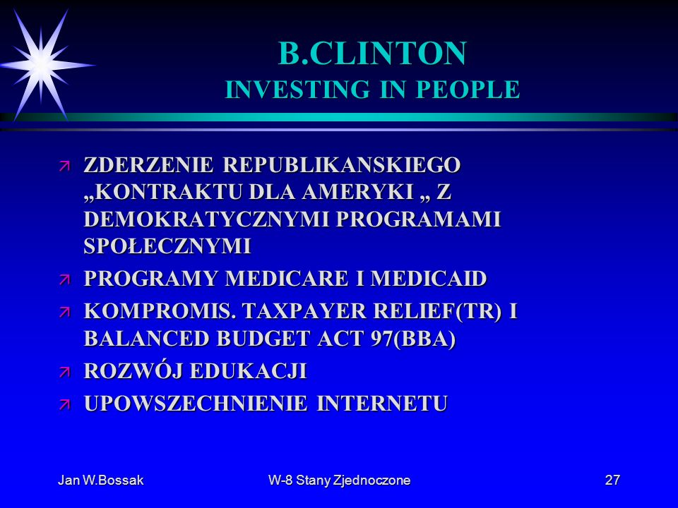 B.CLINTON INVESTING IN PEOPLE