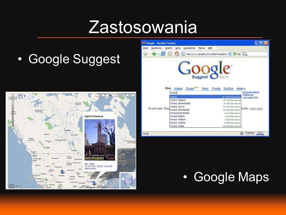 Zastosowania Google Suggest Google Maps