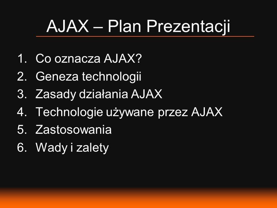 AJAX – Plan Prezentacji