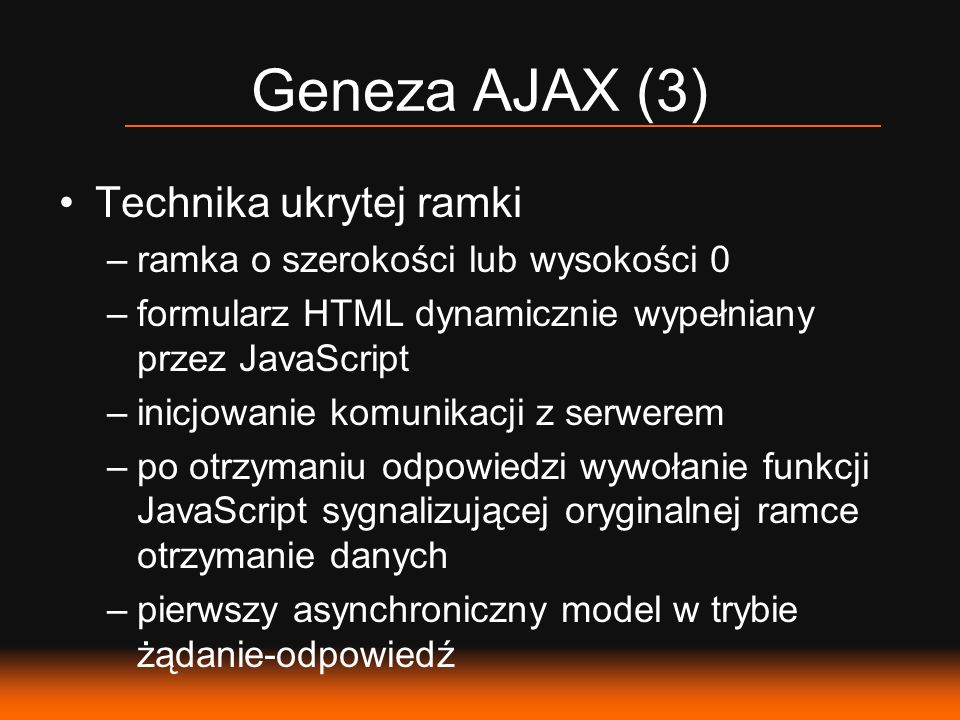 Geneza AJAX (3) Technika ukrytej ramki
