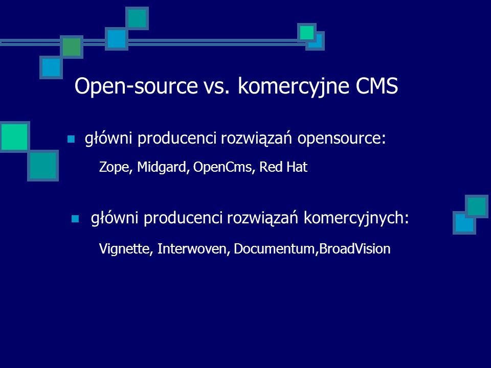 Open-source vs. komercyjne CMS