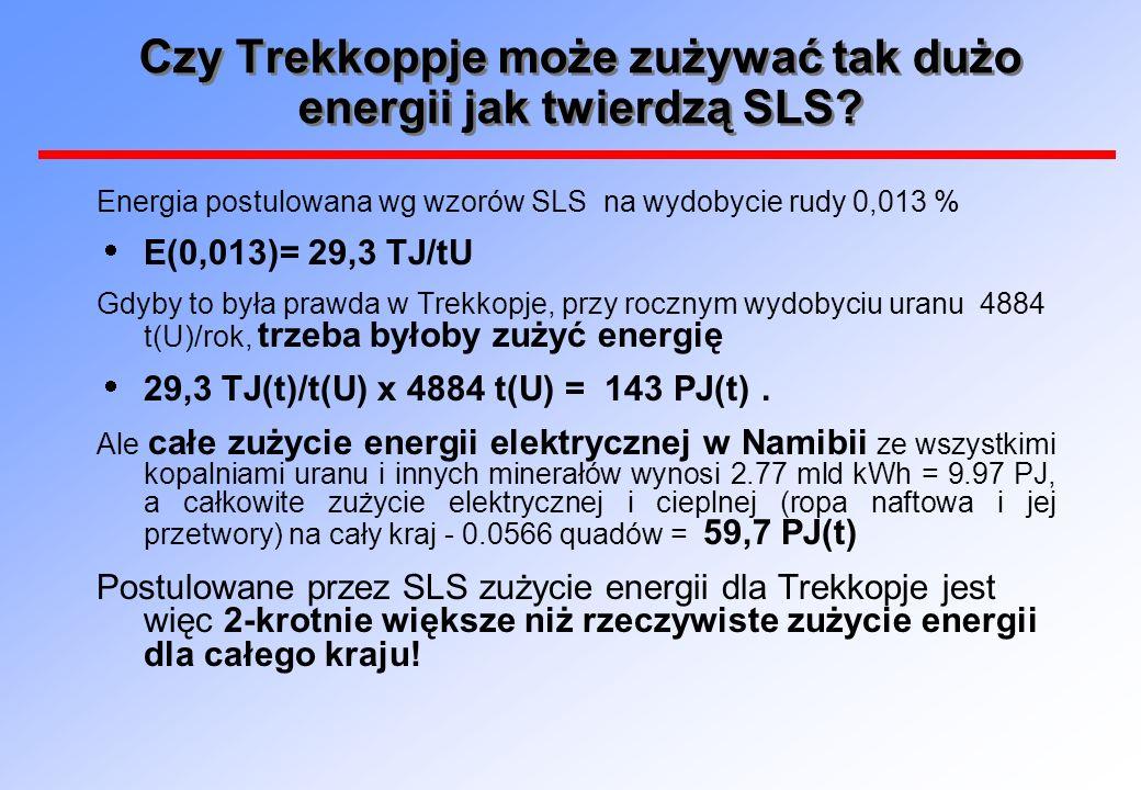 Czy Trekkoppje może zużywać tak dużo energii jak twierdzą SLS