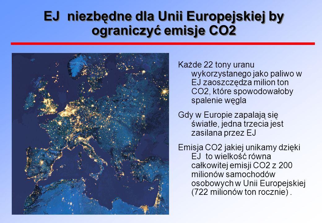 EJ niezbędne dla Unii Europejskiej by ograniczyć emisje CO2