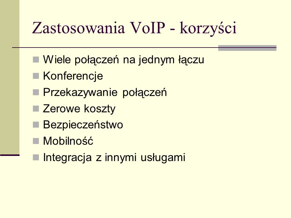 Zastosowania VoIP - korzyści