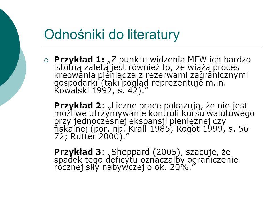 Odnośniki do literatury