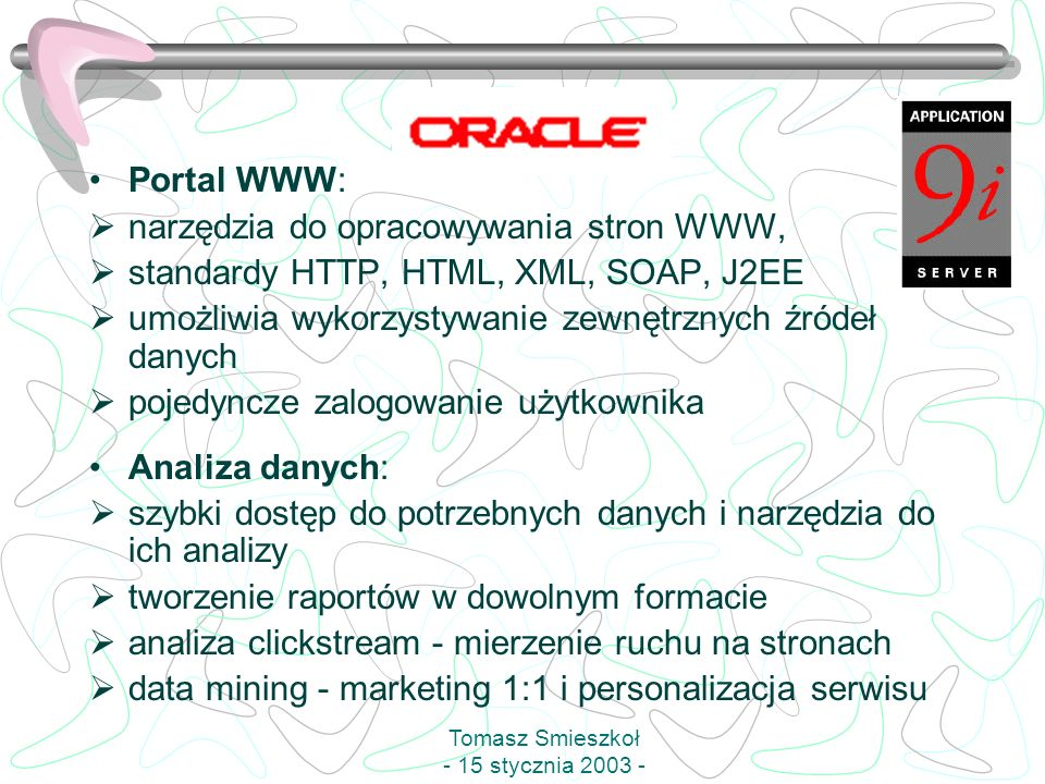Tomasz Smieszkoł - 15 stycznia 2003 -