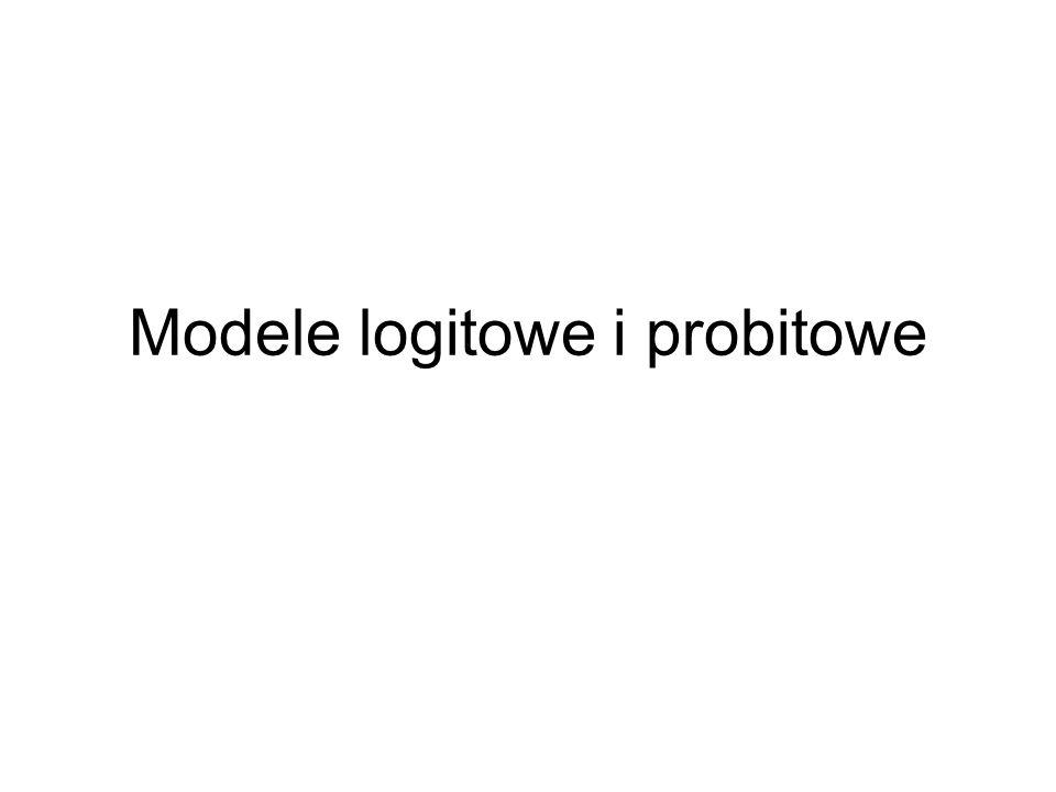 Modele logitowe i probitowe