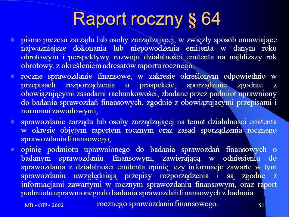 Raport roczny § 64