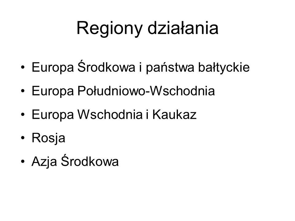 Regiony działania Europa Środkowa i państwa bałtyckie