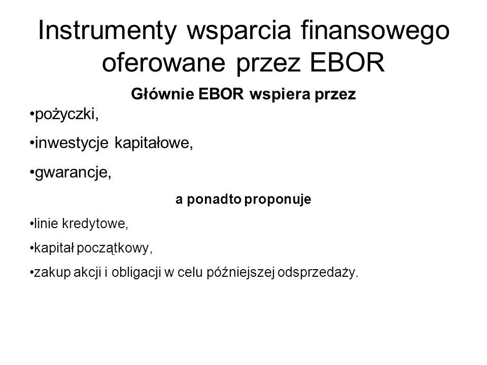 Instrumenty wsparcia finansowego oferowane przez EBOR