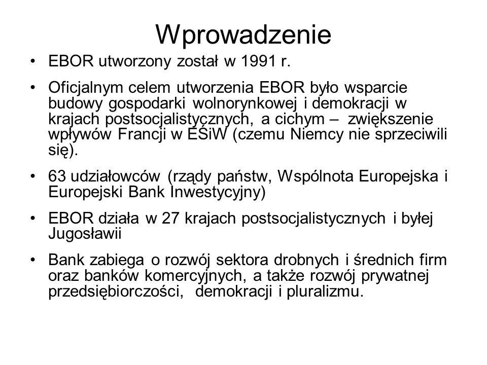 Wprowadzenie EBOR utworzony został w 1991 r.