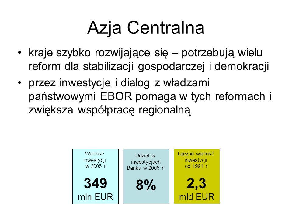 Azja Centralna kraje szybko rozwijające się – potrzebują wielu reform dla stabilizacji gospodarczej i demokracji.