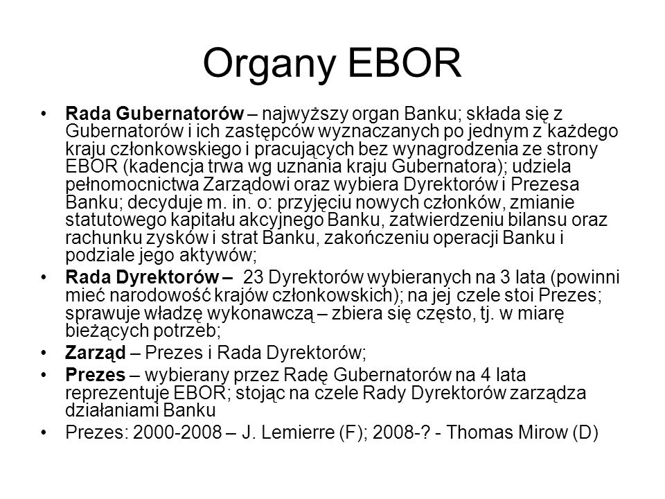 Organy EBOR
