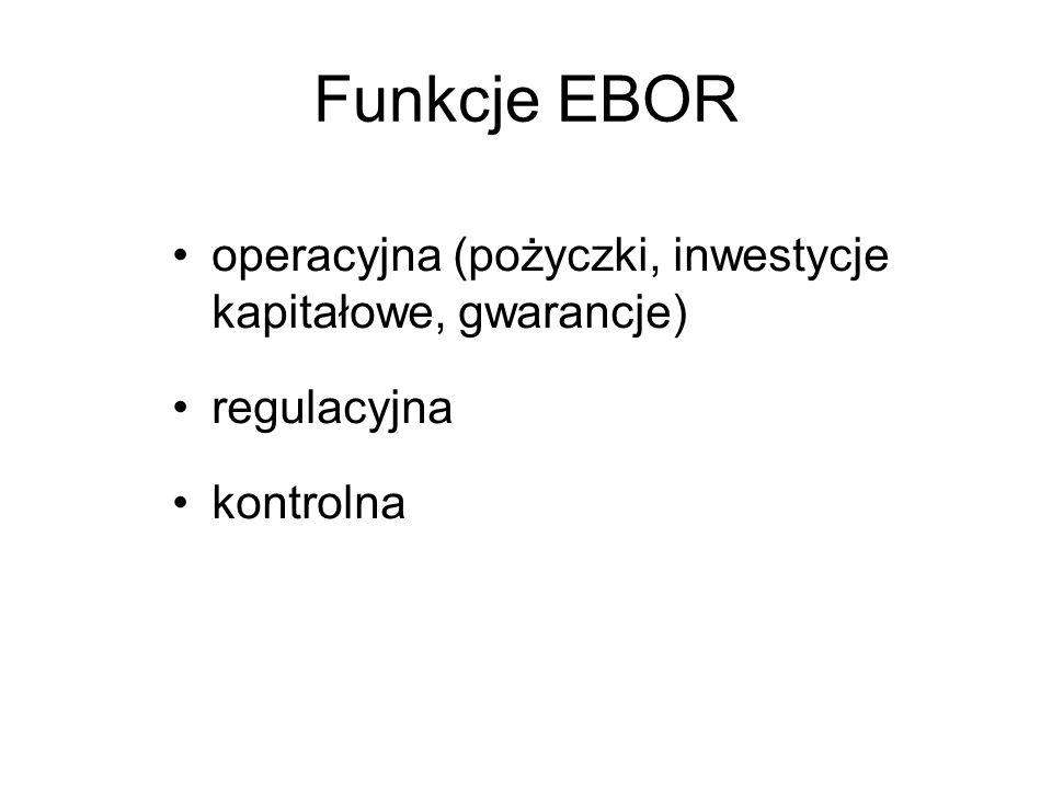 Funkcje EBOR operacyjna (pożyczki, inwestycje kapitałowe, gwarancje)