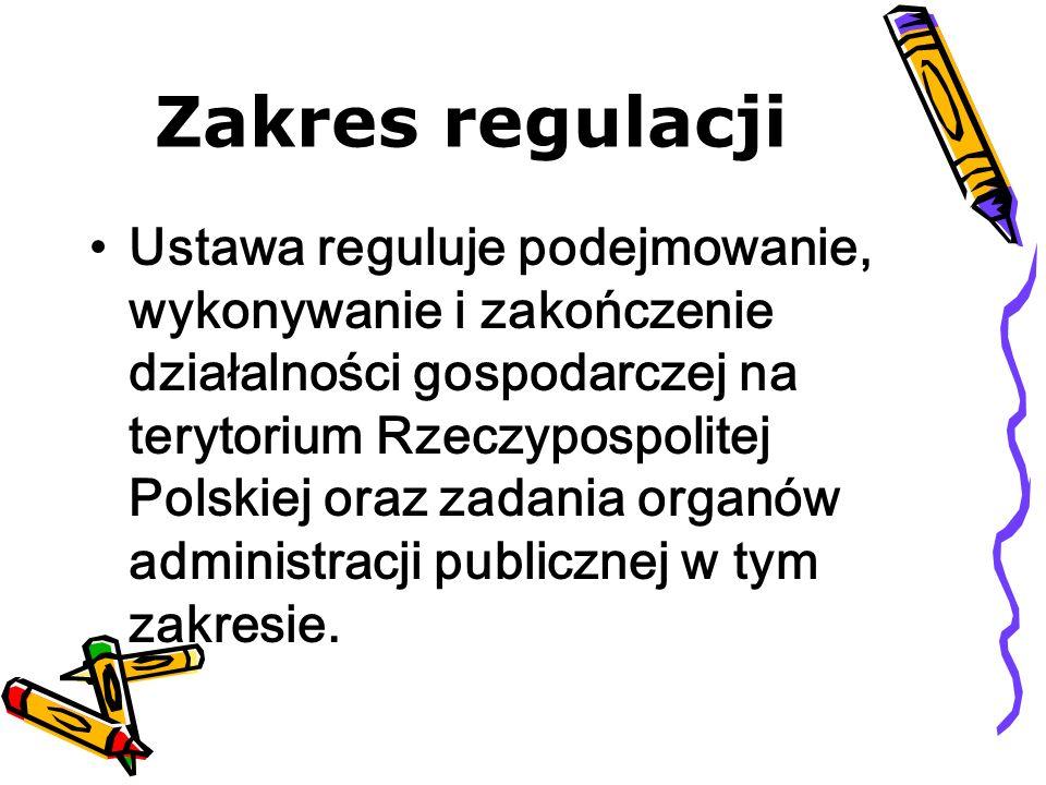Zakres regulacji