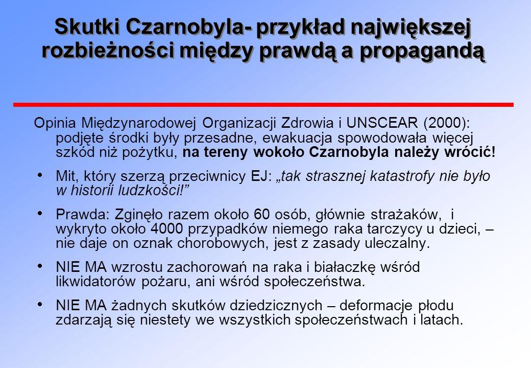 Skutki Czarnobyla- przykład największej rozbieżności między prawdą a propagandą