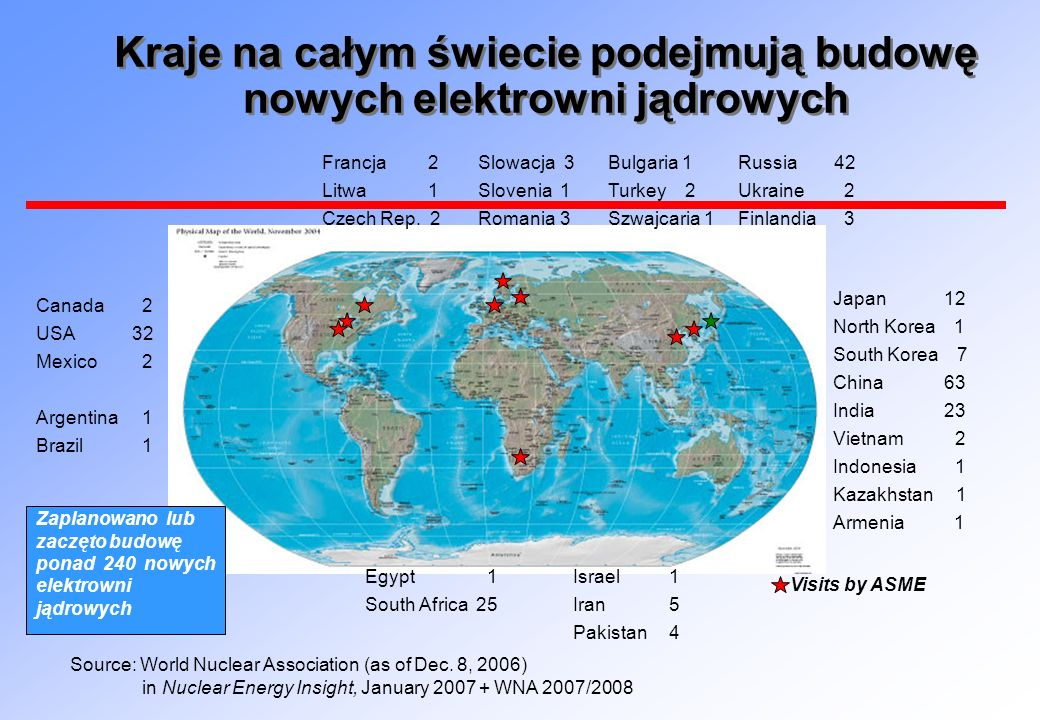 Kraje na całym świecie podejmują budowę nowych elektrowni jądrowych