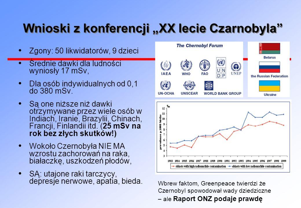 """Wnioski z konferencji """"XX lecie Czarnobyla"""