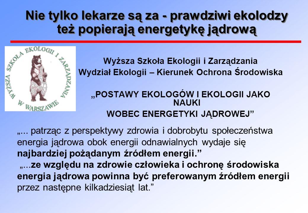 WOBEC ENERGETYKI JĄDROWEJ