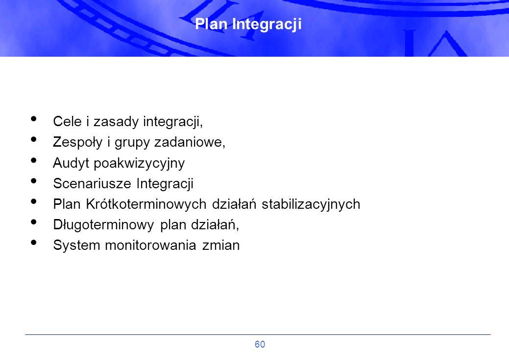 Plan Integracji Cele i zasady integracji, Zespoły i grupy zadaniowe,