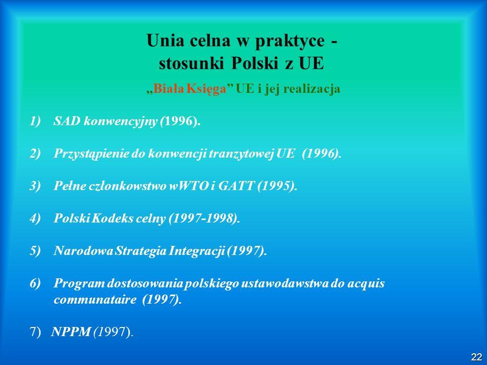Unia celna w praktyce - stosunki Polski z UE