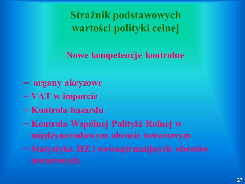 Strażnik podstawowych wartości polityki celnej