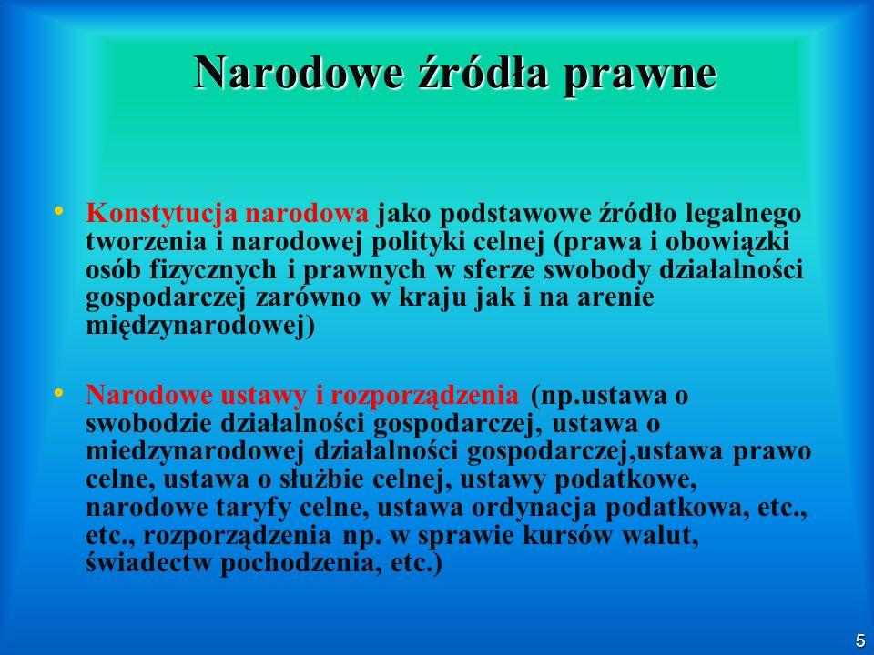 Narodowe źródła prawne